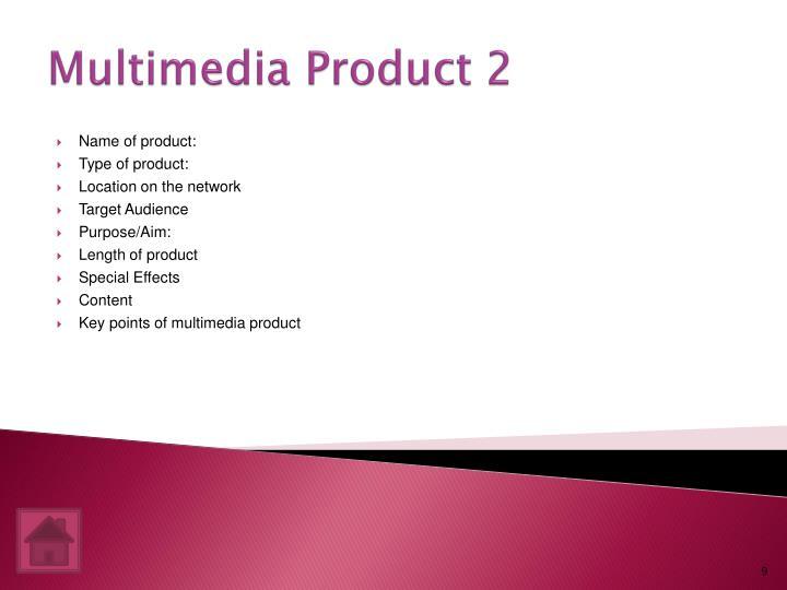 Multimedia Product 2