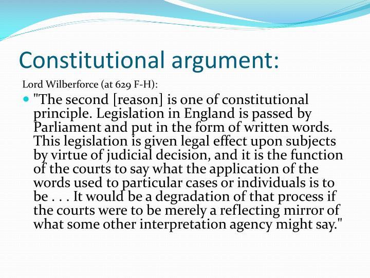 Constitutional argument: