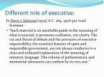 different role of executive