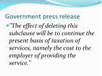 government press release