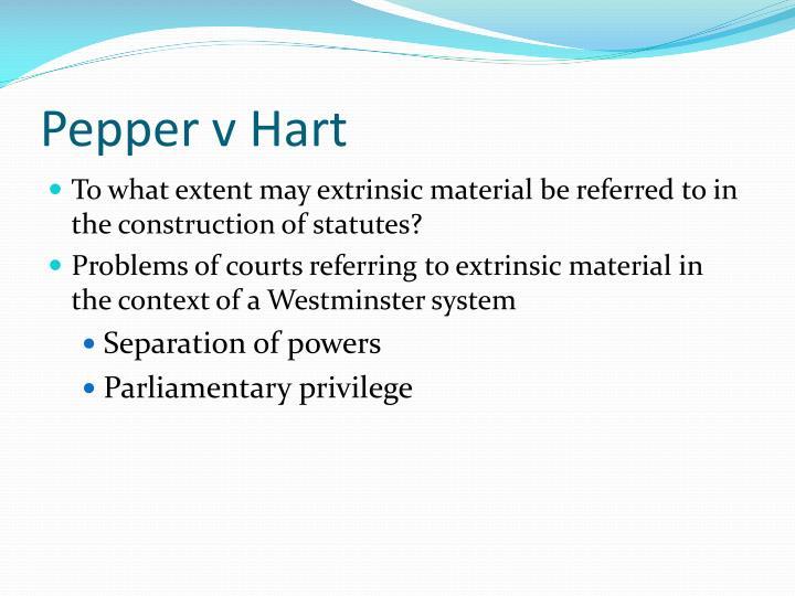 Pepper v Hart