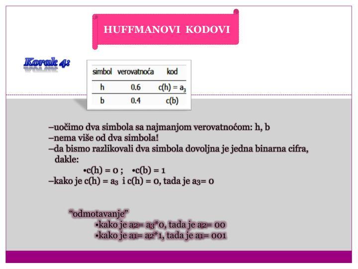 HUFFMANOVI  KODOVI