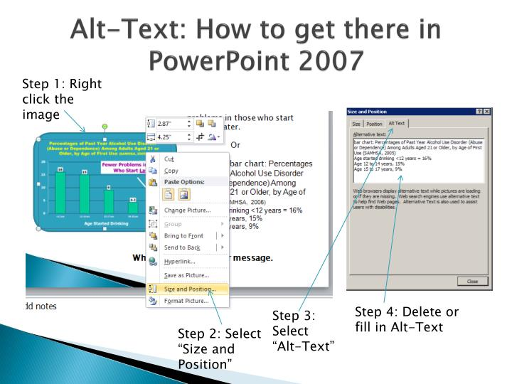 Alt-Text: How to get there in PowerPoint 2007