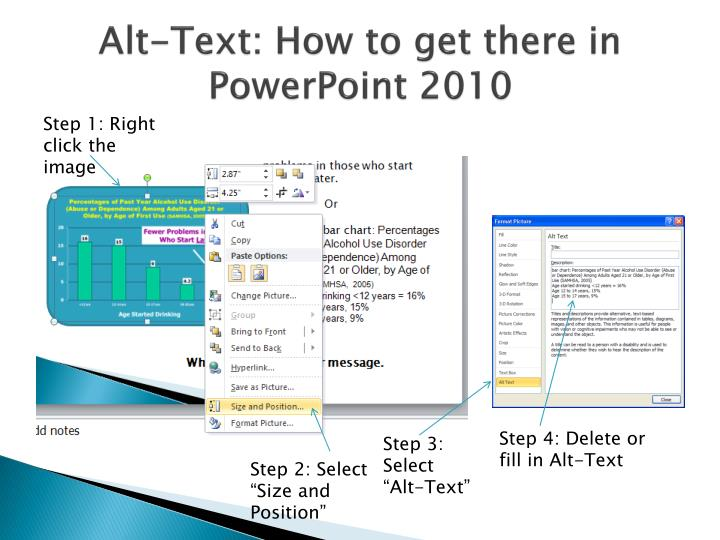Alt-Text: How to get there in PowerPoint 2010
