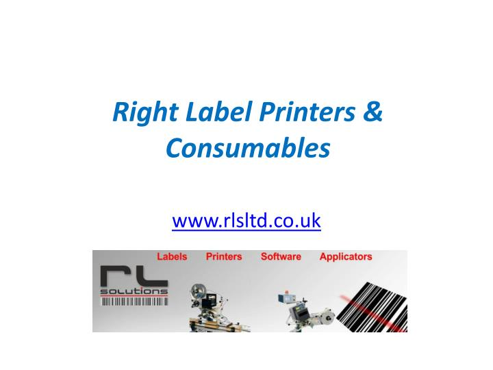 right label printers consumables