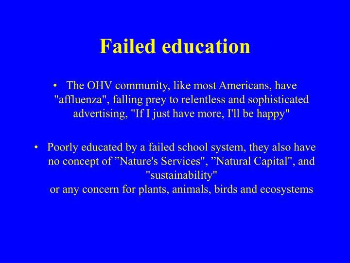 Failed education