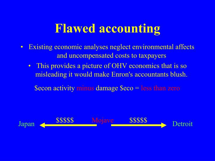 Flawed accounting