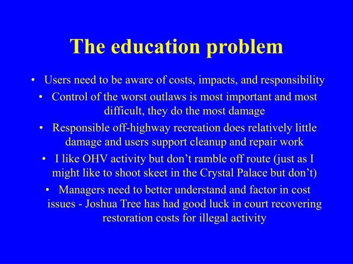 The education problem