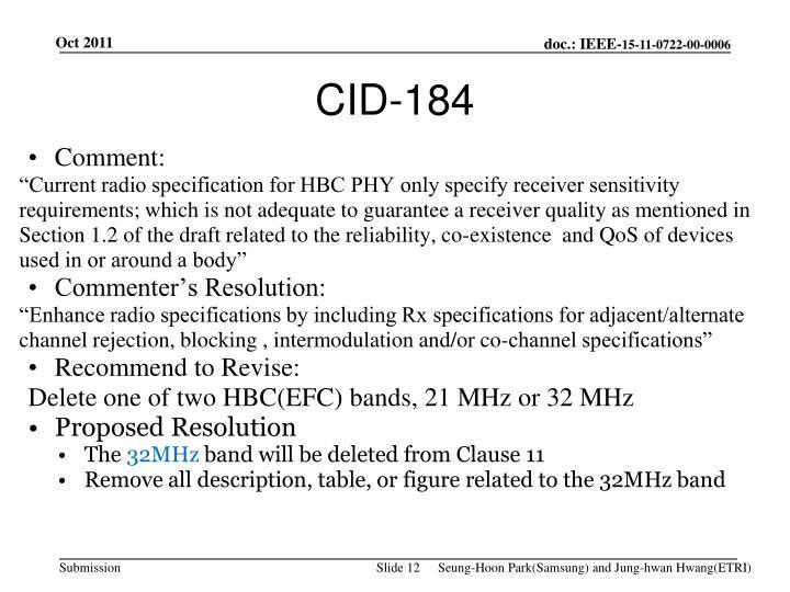 CID-184