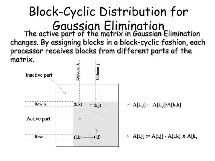 Block-Cyclic Distribution for Gaussian Elimination