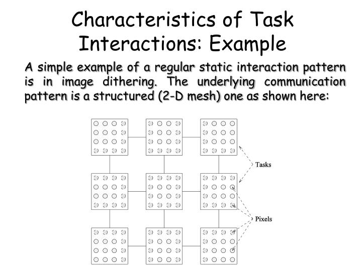 Characteristics of Task Interactions: Example