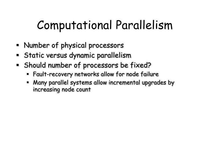Computational Parallelism