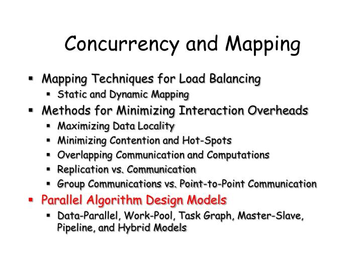 Concurrency and Mapping
