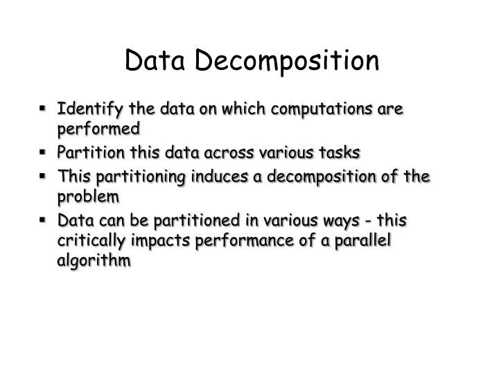 Data Decomposition