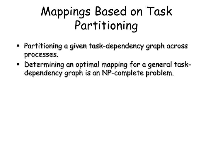 Mappings Based on Task Partitioning