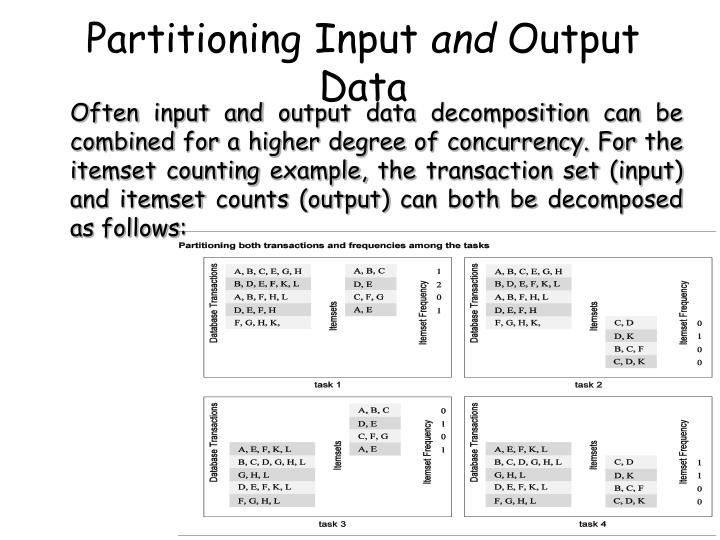 Partitioning Input