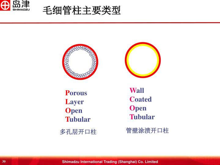 毛细管柱主要类型
