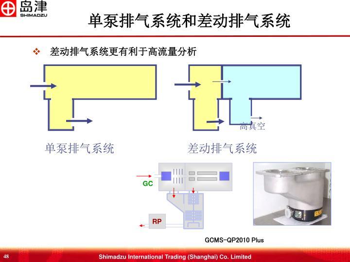 单泵排气系统和差动排气系统