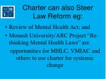 charter can also steer law reform eg