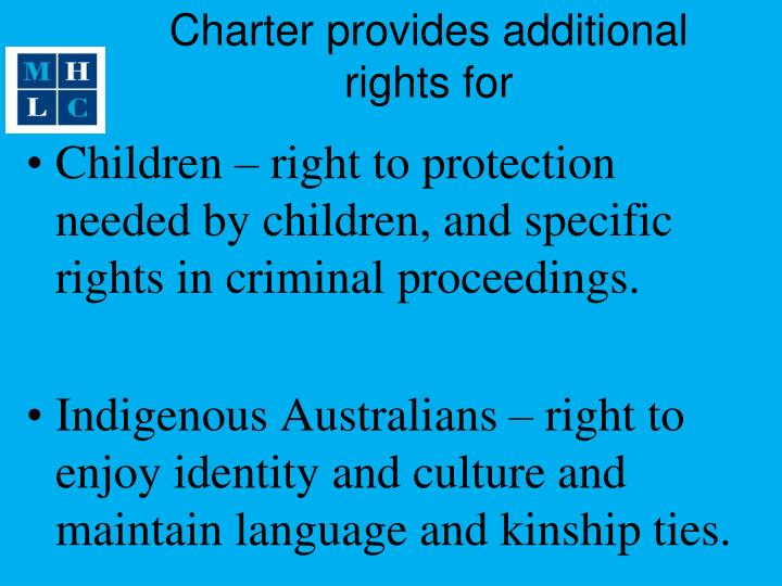 Charter provides additional rights for