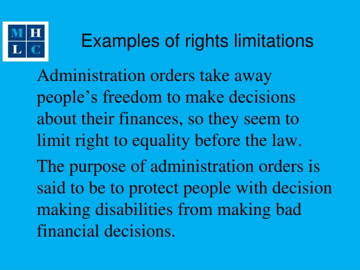 Examples of rights limitations