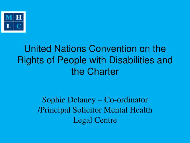 United Nations Convention on the Rights of People with Disabilities and the Charter