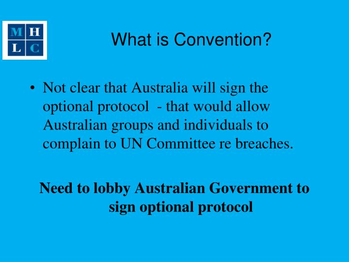 What is Convention?