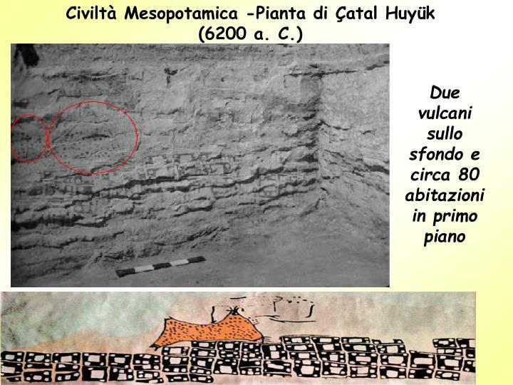 Civiltà Mesopotamica -Pianta di Çatal Huyük (6200 a. C.)