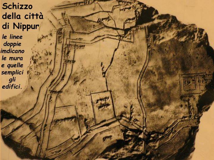Schizzo della città di Nippur
