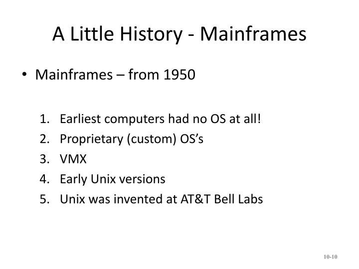 A Little History - Mainframes