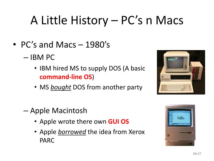 A Little History – PC's n Macs