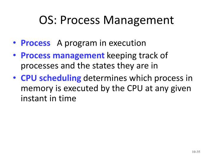 OS: Process Management