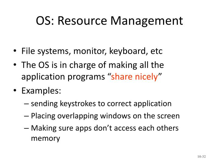 OS: Resource Management
