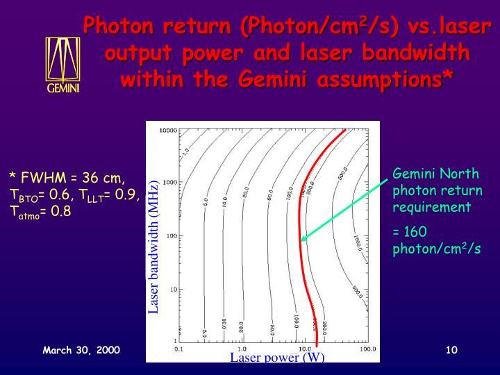 Gemini North photon return requirement
