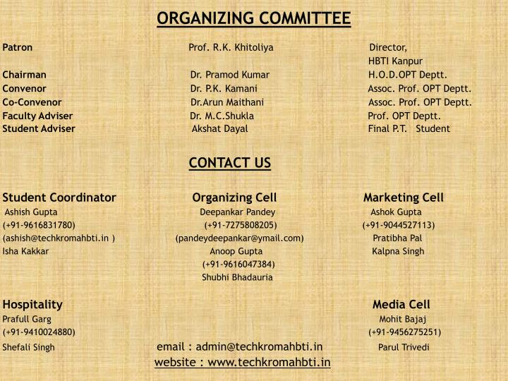 ORGANIZING committee