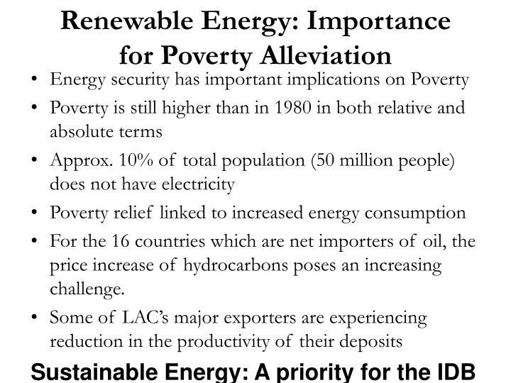 Renewable Energy: Importance