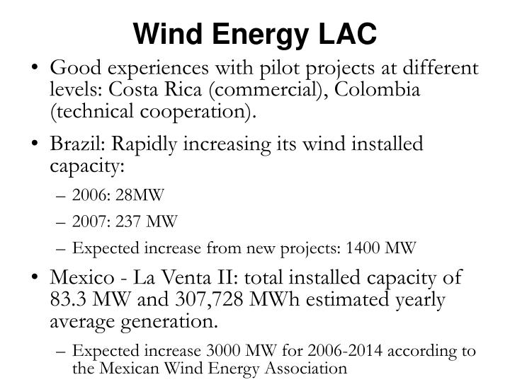 Wind Energy LAC