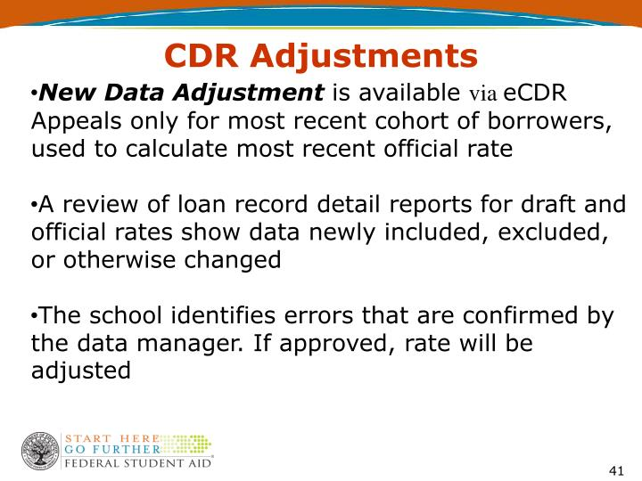 CDR Adjustments
