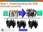 step 1 understanding the cdr formula cont d2
