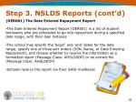 step 3 nslds reports cont d1