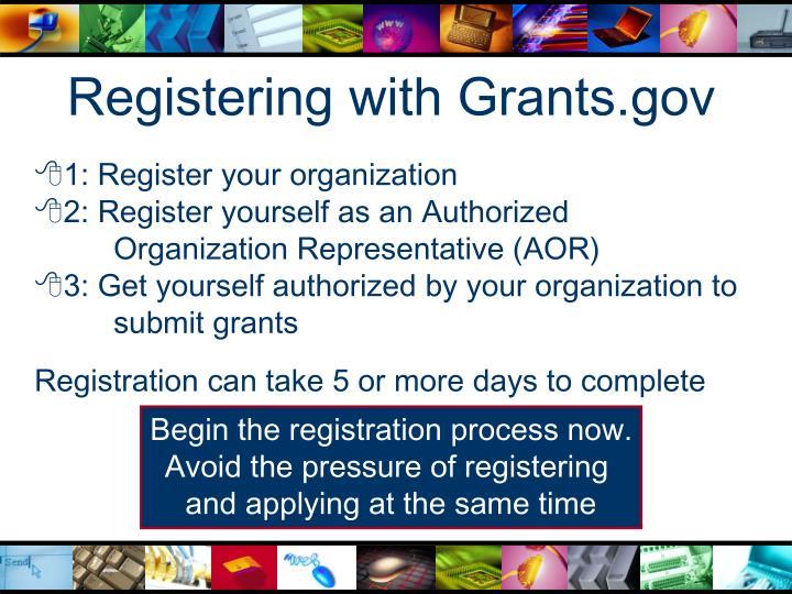 Registering with Grants.gov