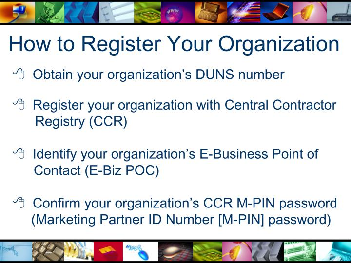 How to Register Your Organization