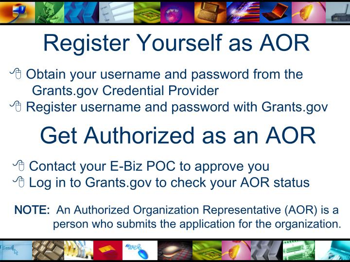 Register Yourself as AOR