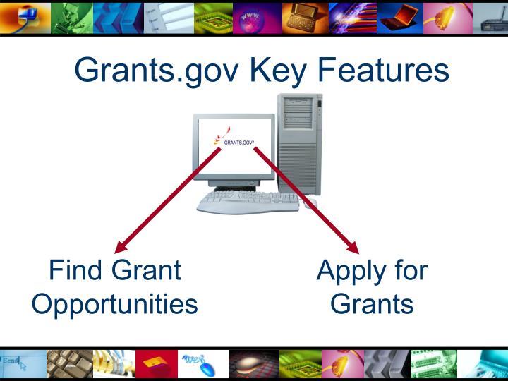 Grants.gov Key Features
