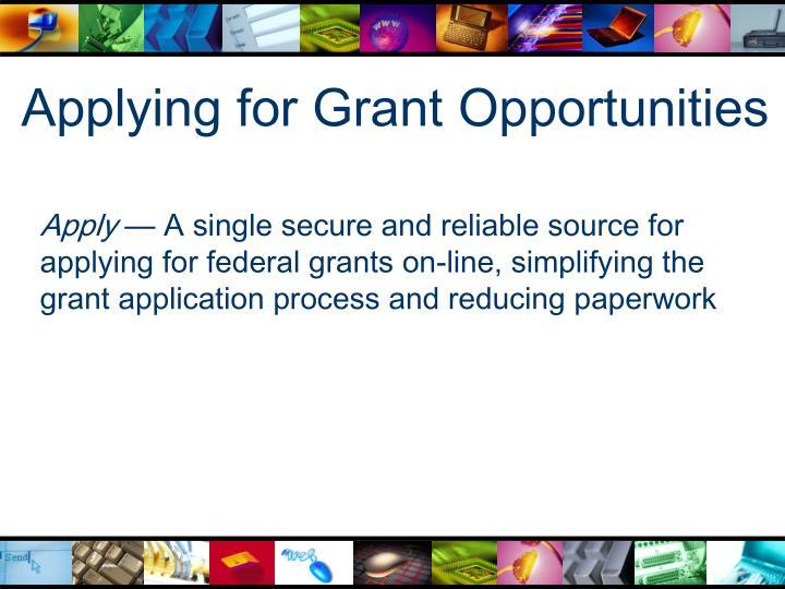 Applying for Grant Opportunities