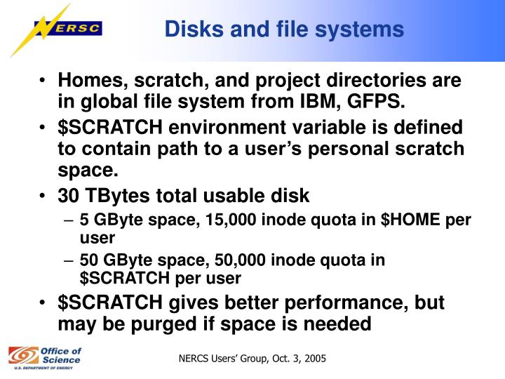 Disks and file systems