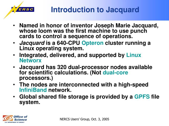 Introduction to Jacquard