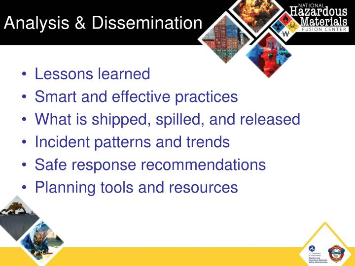 Analysis & Dissemination