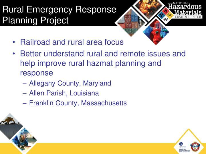 Rural Emergency Response