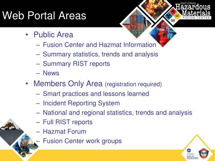 Web Portal Areas